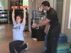 Thinner Thighs, Tighter Tummy: Overhead Lunge