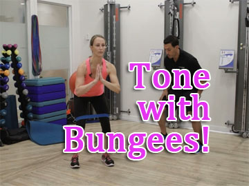 Tone with Bungees, Lower Body Exercises