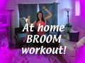 At-Home Broom Workout