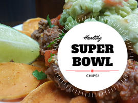 Healthy Super Bowl Nachos (with Sweet Potato Chips)