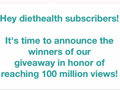 100 Million Views Giveaway Winners Announced!