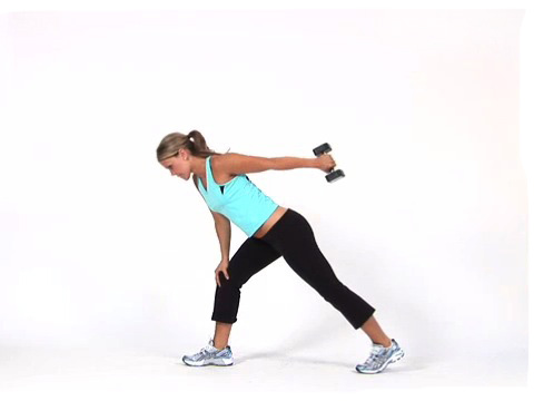 Bent Over Row with Tricep Kickbacks, arm exercise