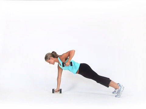 Plank Row with Dumbbells, Exercise Demo from Diet.com